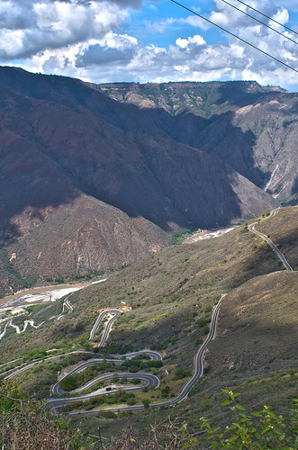 road colombia santander chicamocha panachi