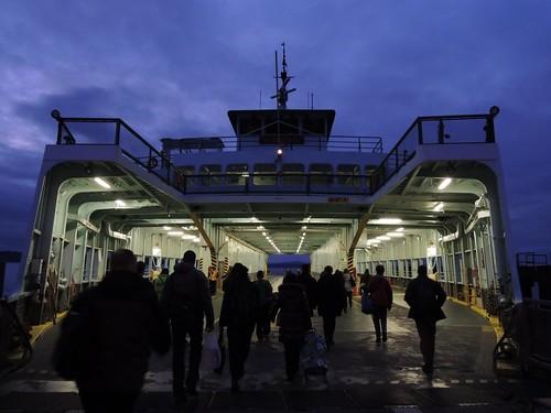 Walk-ons boarding M/V Klahowya @ Fauntleroy ferry terminal