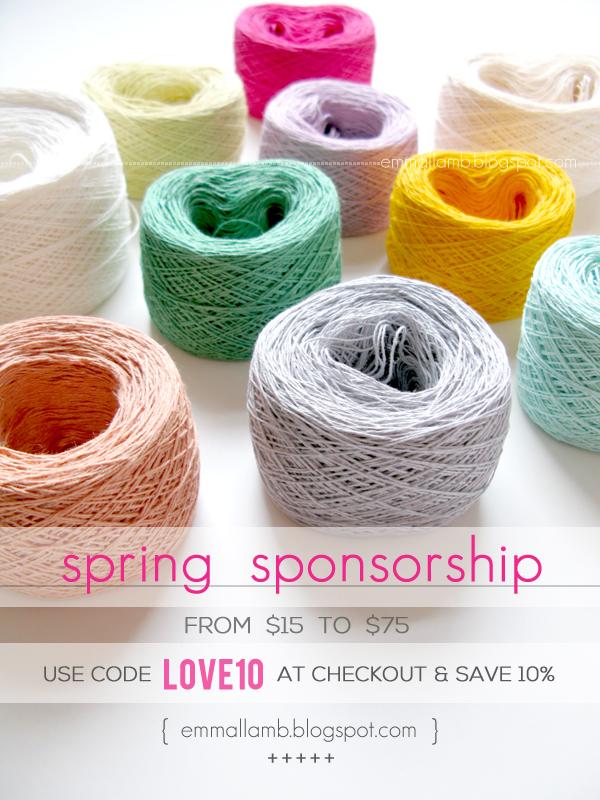 Spring 2014 sponsorship opportunities at Emma Lamb / emmallamb.blogspot.com