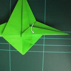 วิธีพับกระดาษเป็นจรวด X-WING สตาร์วอร์ (Origami X-WING) 027