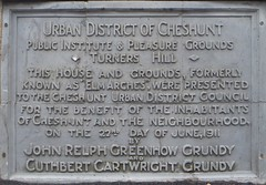 Photo of Grey plaque number 30585