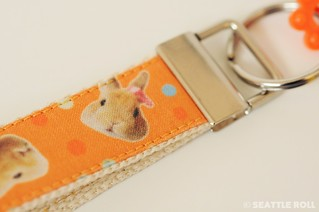 """Orange Apollo"" Fabric Keychain"