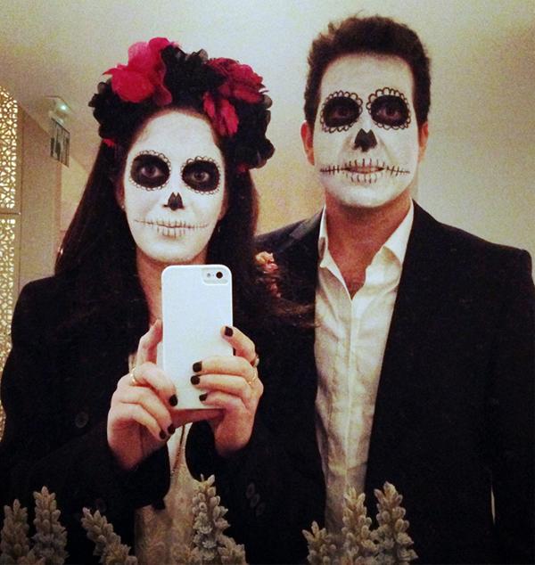dia de muertos, dia de los muertos, sugar skull couple, sugar skull makeup, halloween, פורים, תחפושת