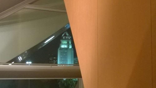 Los Angeles City Hall from the lobby at the Walt Disney Concert Hall