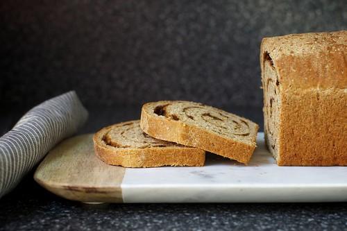 whole-grain cinnamon swirl bread