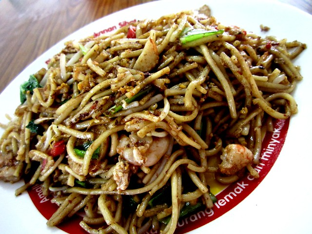 RTM Cafe fried belacan seafood noodles