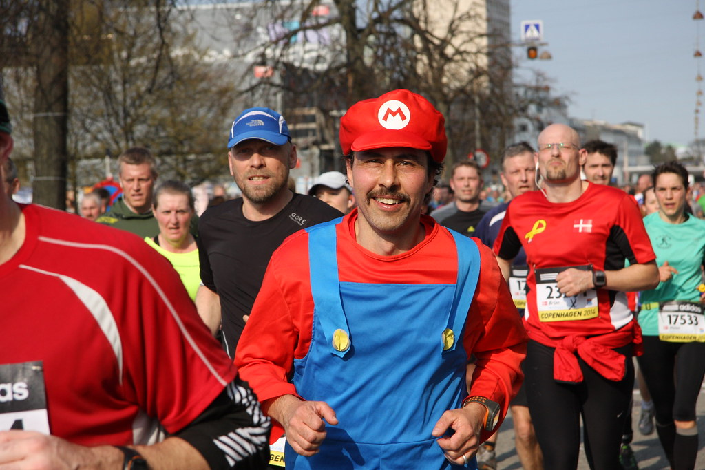 Mario For Real - Copenhagen Half Marathon - Mass Race