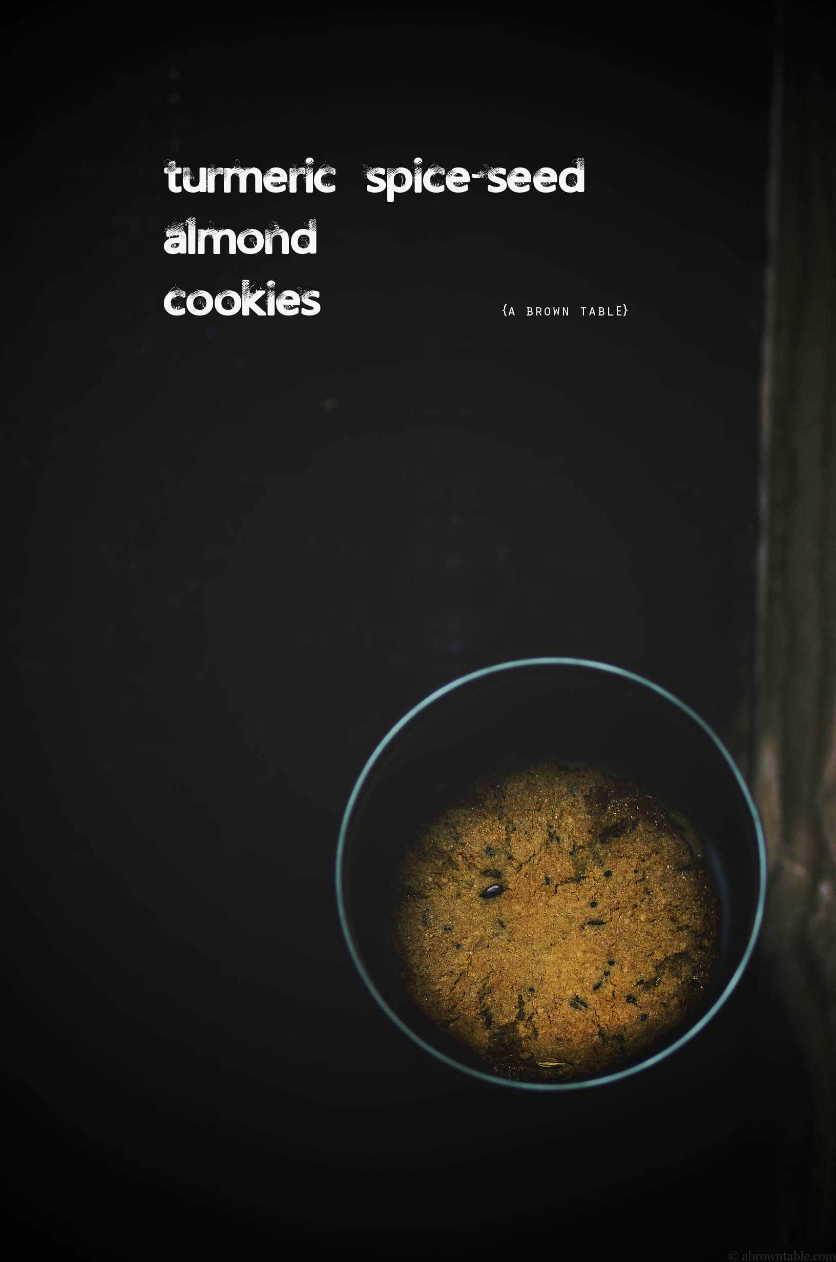 turmeric spice seed almond cookies in can