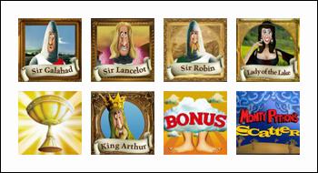 free Monty Python's Spamalot slot game symbols