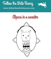 Free Alpaca pattern!