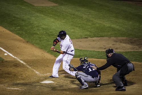 David Ortiz laying off the outside corner.