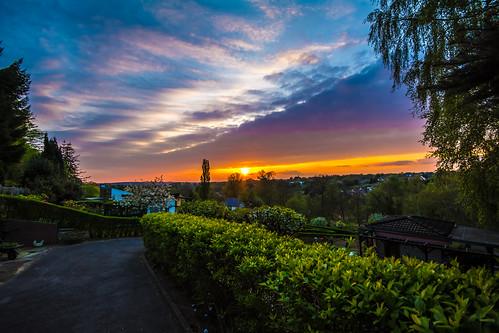 Bochum - sunset allotment garden