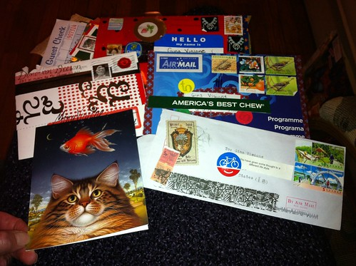 Incoming international MailArt letters