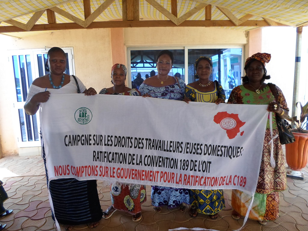 2014-3-8 Domestic workers in Burkina Faso on IWD