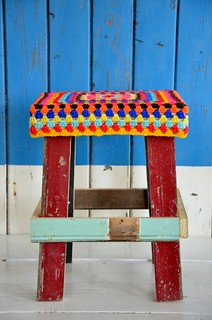 wood & wool stool dunja