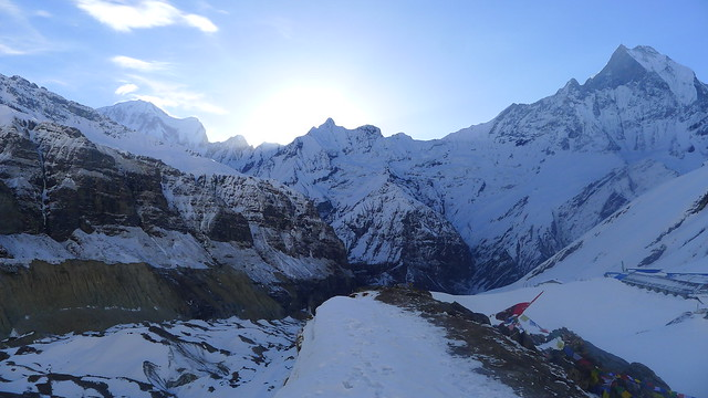 before dawn at Annapurna Base Camp