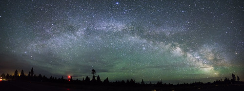 park light panorama usa lake nature night oregon way star us nps or route national crater astrophotography craterlake milky 97 milkyway craterlakenationalpark us97