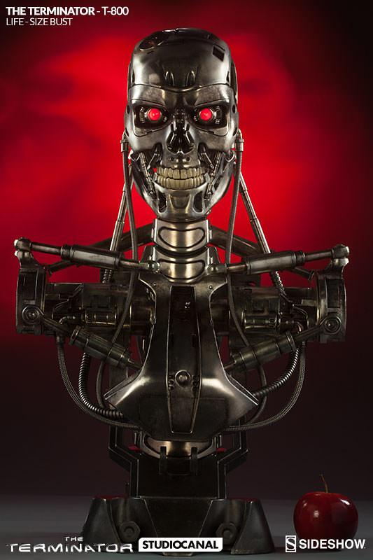 【官圖 & 販售資訊公開!】終結者迷的惡夢來了~ Sideshow 將推出超屌的1:1 T-800 胸像