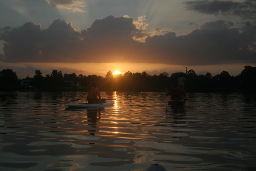 Sunset on University Lake