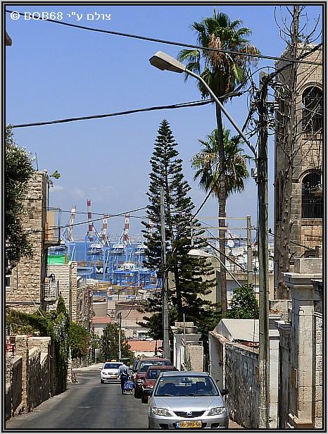 מבט משוק תלפיות אל הנמל