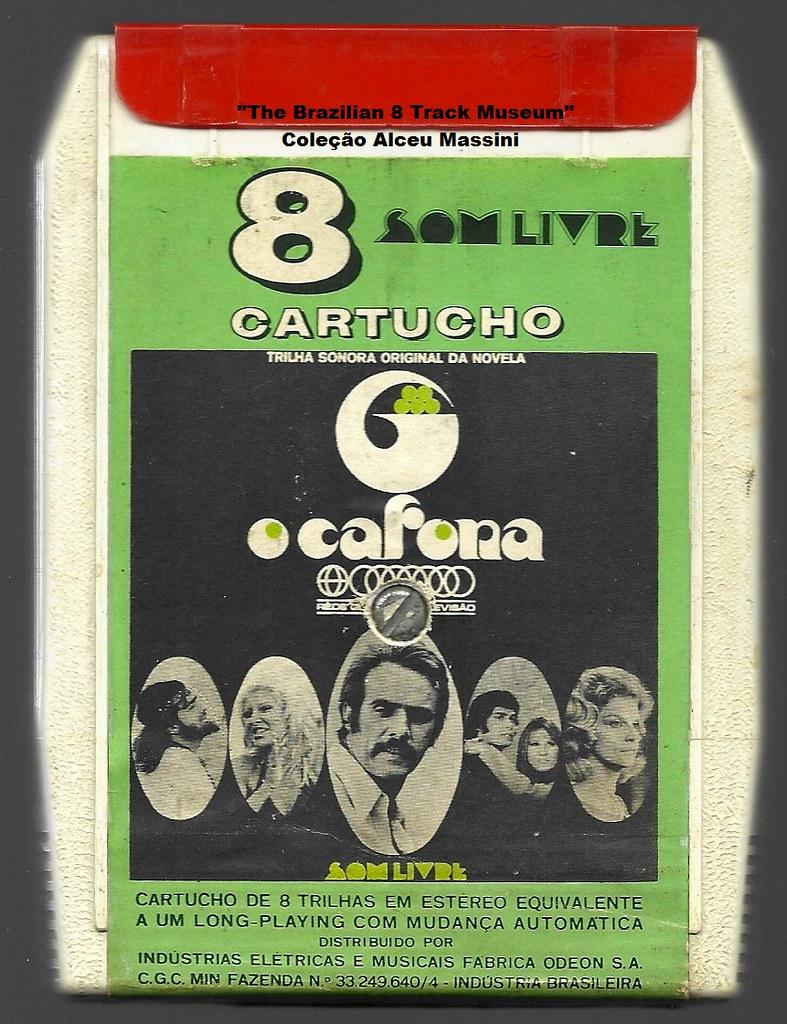 """1971 - Trilha da Novela """"O Cafona"""" / Marília Pera - Carlos Lyra - Angela e Paulo Sérgio Valle - Marília Barbosa - brazilian 8 track - fita cartucho de 8 pistas"""