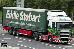 Scania R440 6x2 - PK11 NLJ - Muriel Rosa - Eddie Stobart - M1 J10 Luton - Steven Gray - IMG_0348