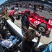 Dario Franchitti in the finals of the pit stop competition