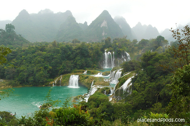 detian waterfall from top