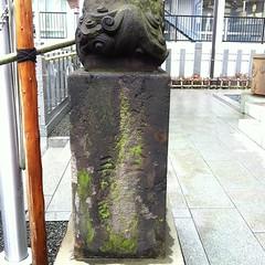狛犬探訪 三田 御穂鹿嶋神社 奉献の年月も削れていて三月吉日しか読み取れない