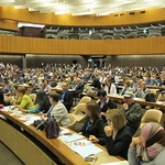 Photos of PSI delegates at the International Labour Conference workers' meetings.