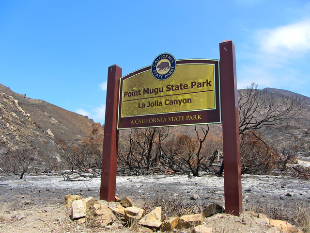 point mugu state park, after the springs fire