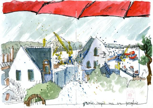 Brest-le-port-parapluie