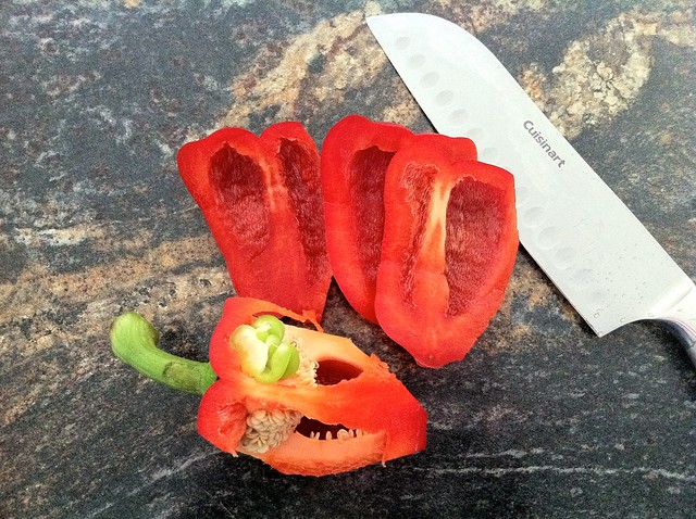 Red Bell Pepper with Core Removed
