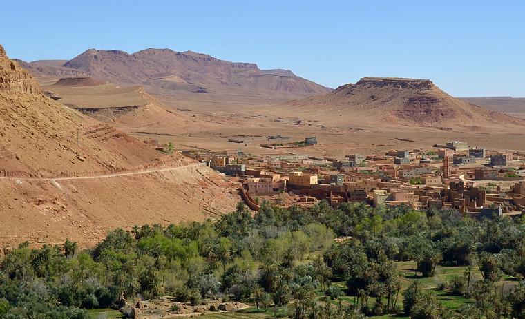 Palmeral de Skoura, uno de los más grandes de marruecos que vemos en esta excursión por Marruecos