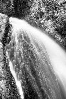 Upper Wahkeena Falls (B&W)