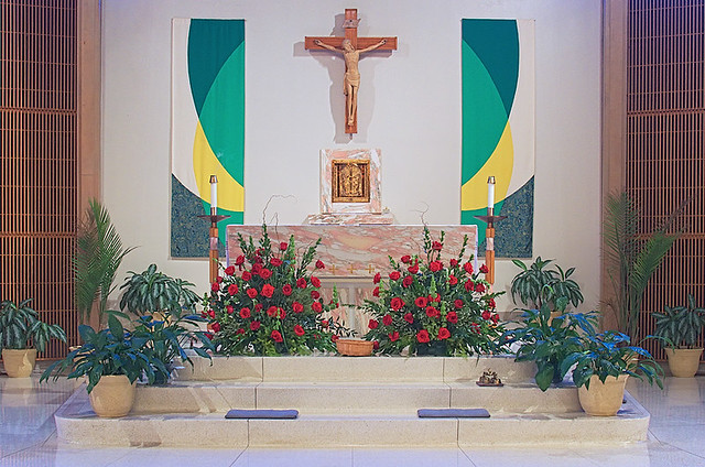 Saint Clement of Rome Church, in Des Peres, Missouri, USA - altar (reduced size)