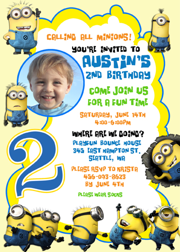 Despicable Me Birthday Invitations is the best ideas you have to choose for invitation example