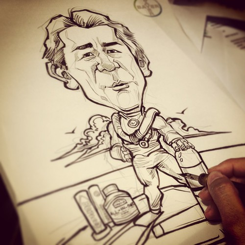 diver caricature for Bayer progress