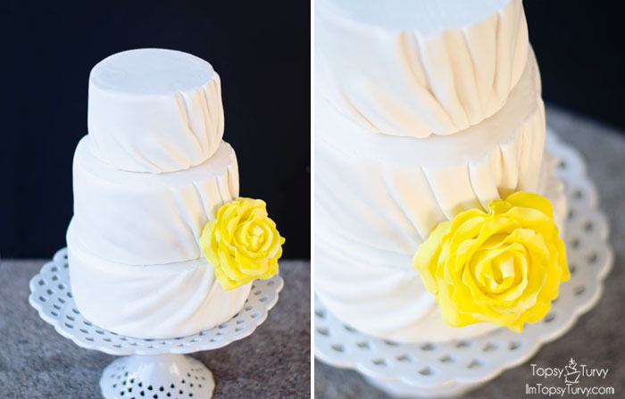 pleated-fondant-wedding-cake-details