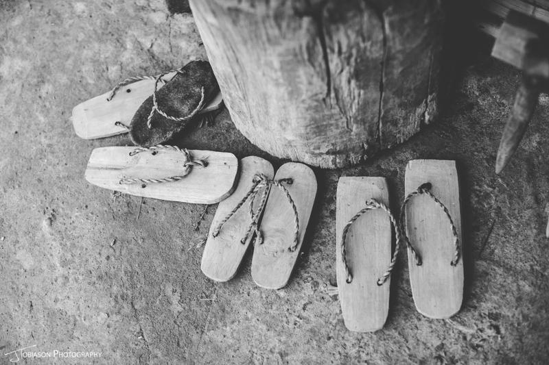 rice sandals Laos