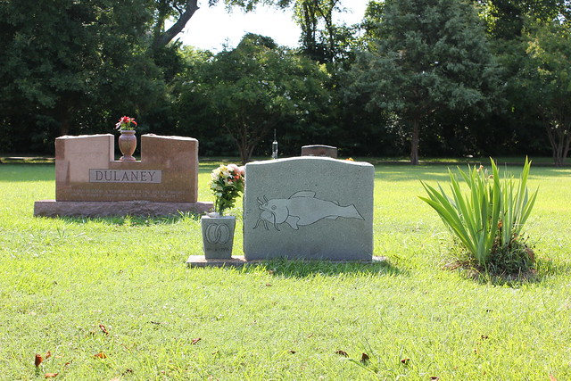 Catfish on Cemetery Monument, Port Gibson MS