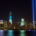 Tribute in Light memorial next to the new One World Trade (2012) by Anthony Quintano