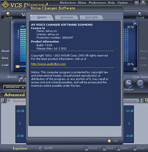 AV Voice Changer Software Diamond 7.0.54