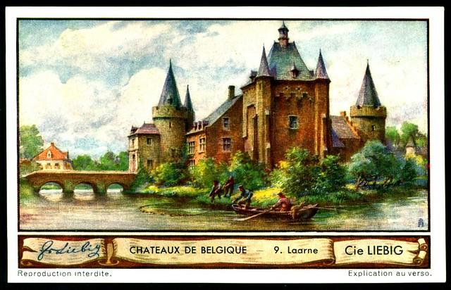 Liebig Tradecard S1288 Belgian Chateaux ~ Laarne