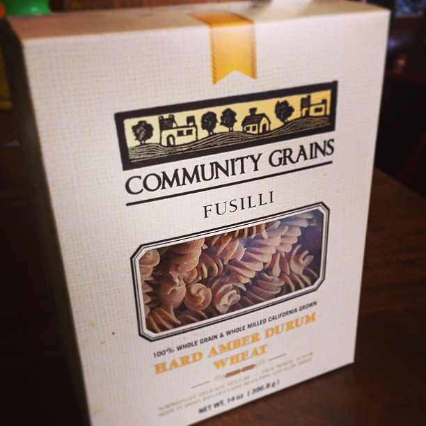 Finally got Community Grains pasta at Whole Foods Campbell.
