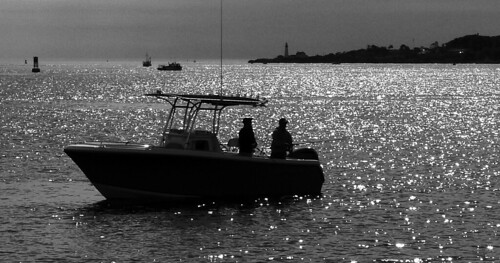 Fishing in Casco Bay, Maine by nelights