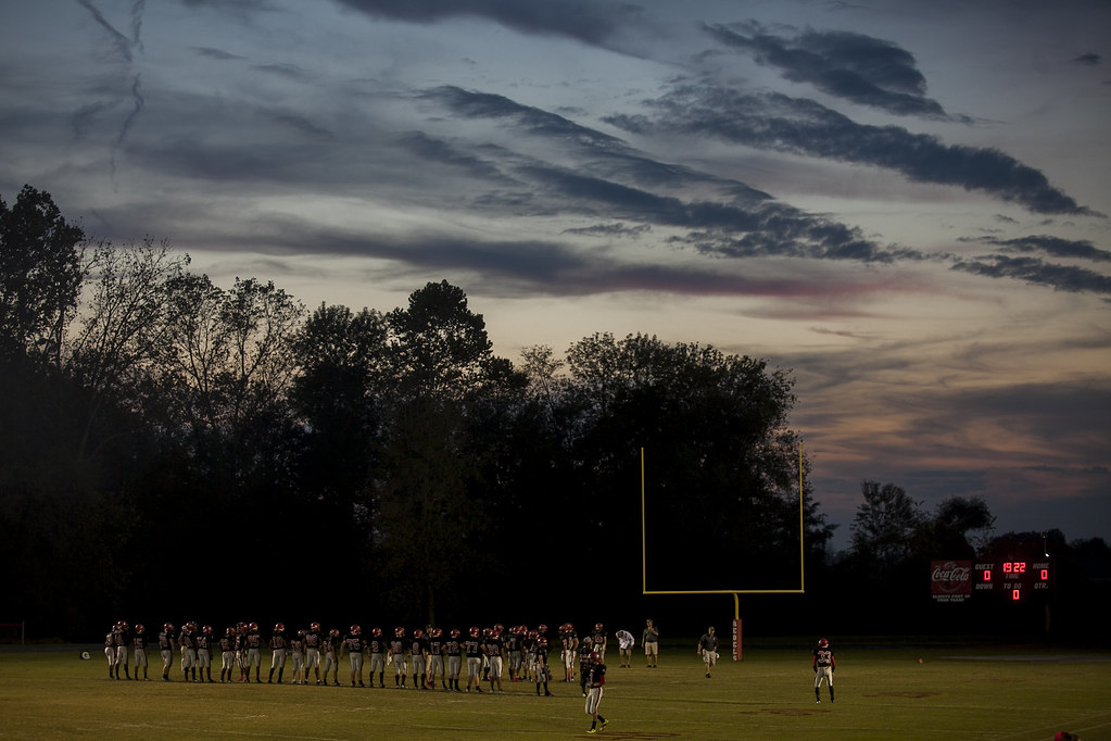 Todd Co Central Football at Sunset