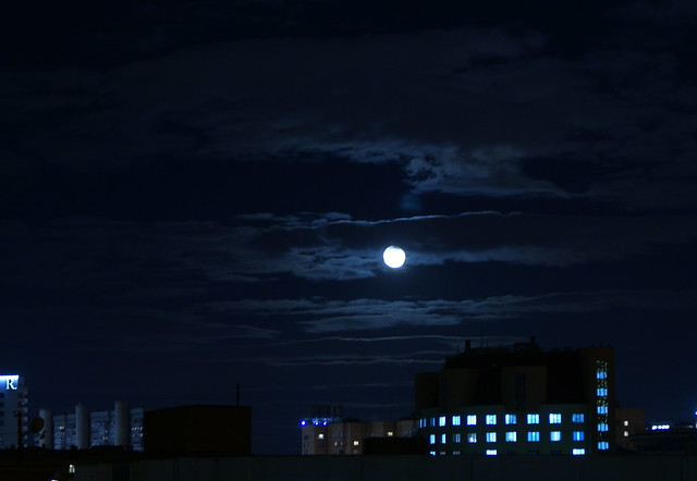 Moon In Blue