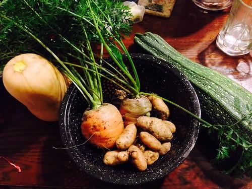 Small harvest before dinner