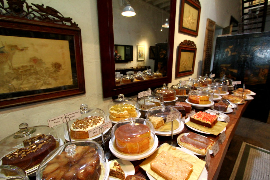 George Town Cafes: China House's wide variety of cakes